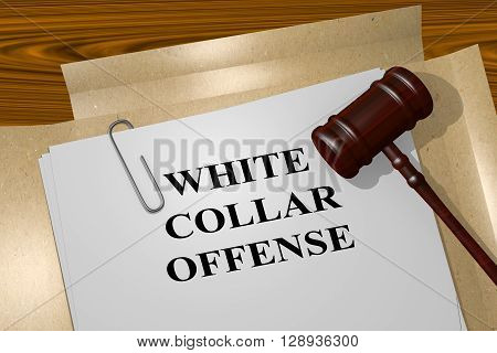White Collar Offense Legal Concept