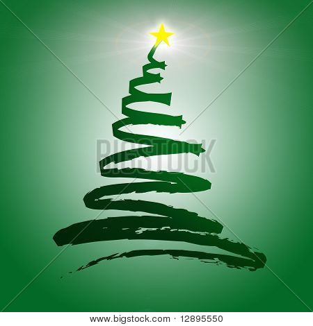 Christmas tree zig zag illustration