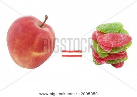apple with candied fruits