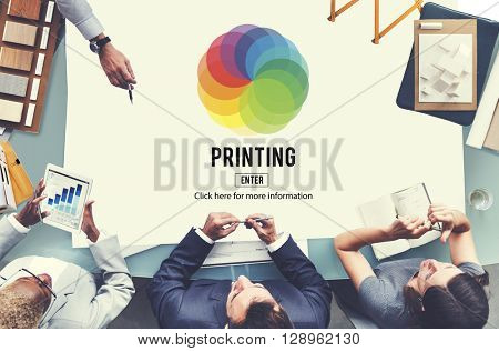 RGB Printing Palette Mixing Colour Concept