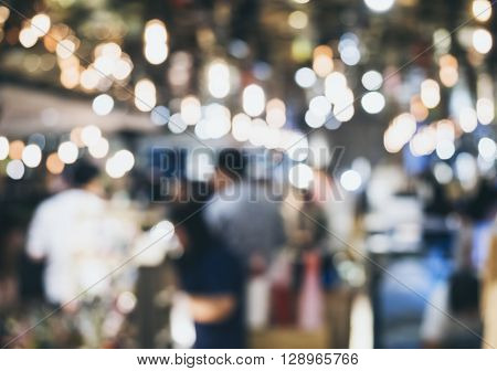 Festival Event Party Outdoor with Blurred People Background
