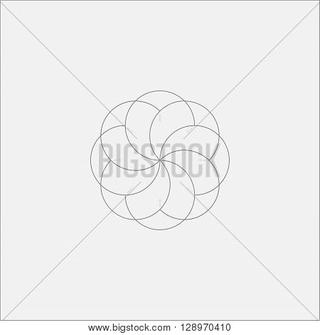 Abstract Alien Flower Minimal Odd Art Design