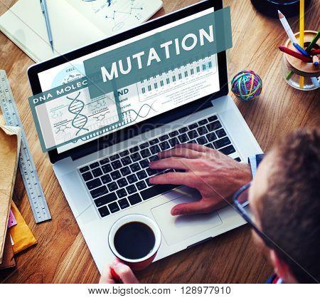 Mutation Biology Chemistry Genetic Scientific Concept