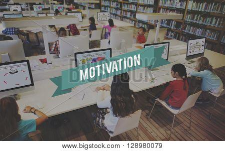 Motivation Aspiration Enthusiasm Incentive Inspire Concept