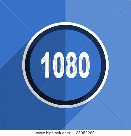 flat design blue 1080 web modern icon