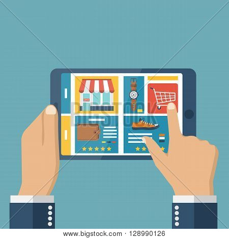 Shopping Online Tablet Men