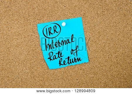 Business Acronym Irr Internal Rate Of Return