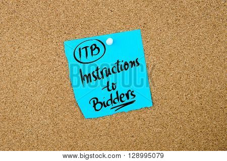 Business Acronym Itb Instructions To Bidders
