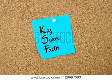 Business Acronym Ksf As Key Success Factor
