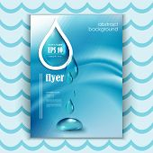 Blue shiny water drops banners set. Vector illustration. Fresh rain template for cover card design. Pure organic water. Clean water. Mountain mineral rich water. Spring water. poster