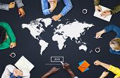 World Global Cartography Globalization Earth International Concept poster