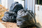 Garbage bags:Keep garbage in bag for eliminate poster