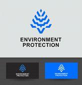 Business Icon - environment protection, vector logo concept illustration plant corn, grain. Organic logo. Ecology logo. Leafs logo. Bio logo. Nature organic logo. Agriculture logo. Vector logo template. poster
