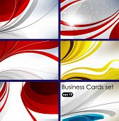 set of templates for business cards. Elements for design. Eps10 poster