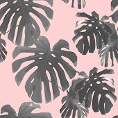 Tropical palm leaves seamless pattern. Palm retro texture. Botanical background for phone case, t-shirt, poster, art print, wallpaper poster
