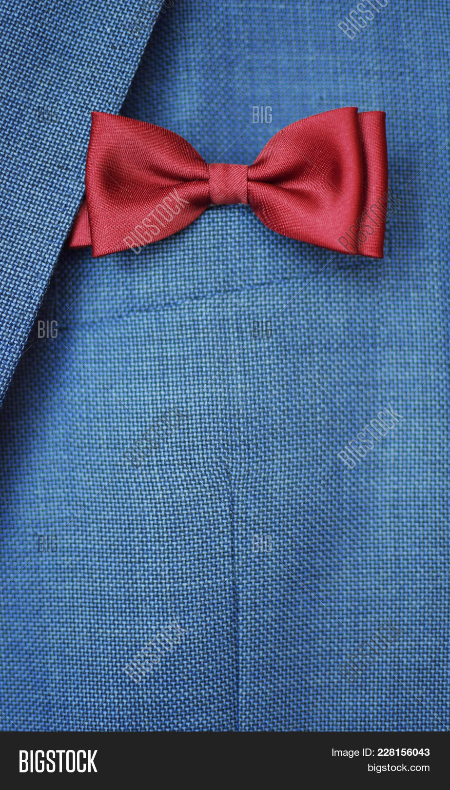 Red Bow Tie On Blue Image & Photo (Free Trial) | Bigstock