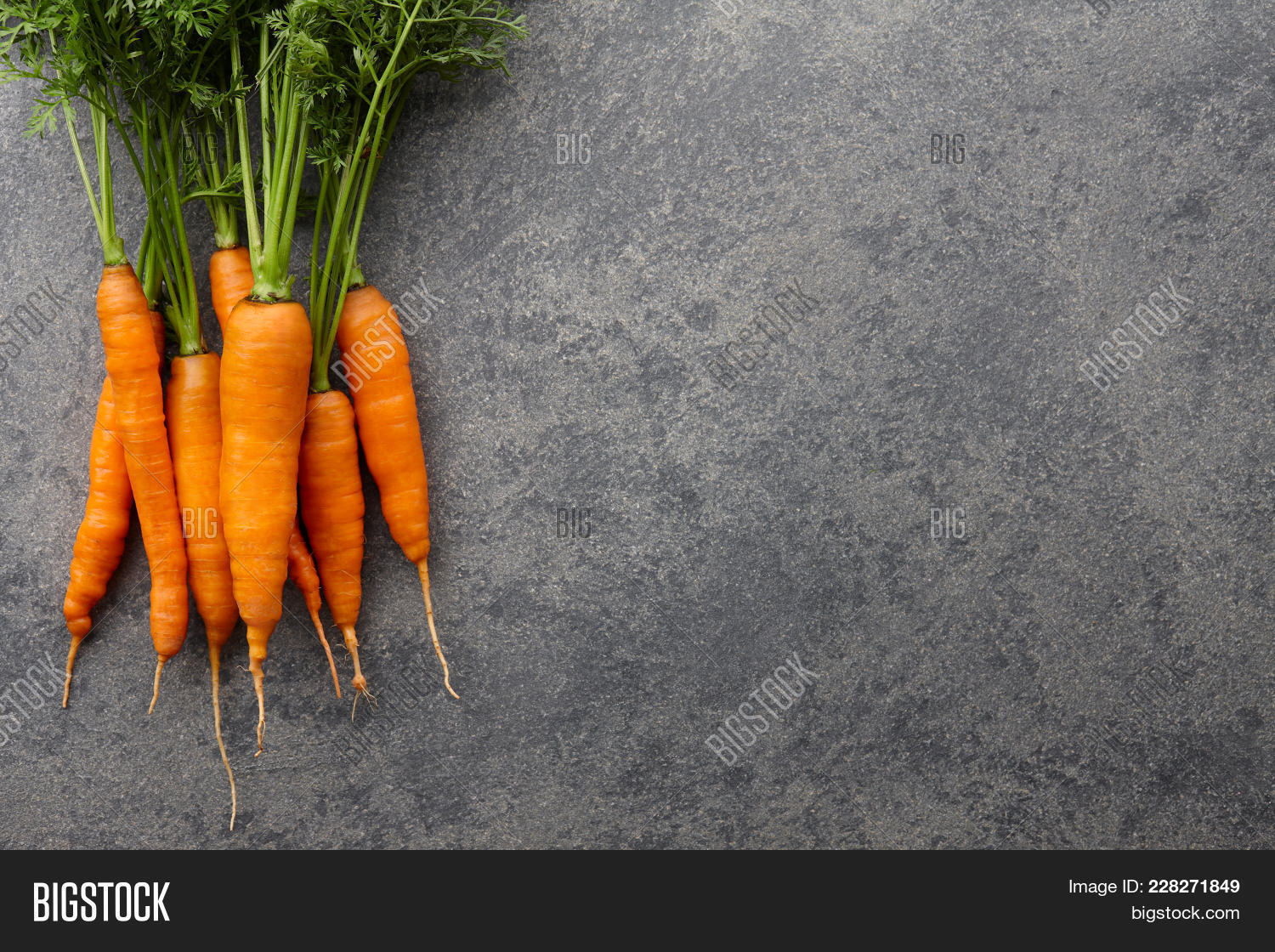 countertop background. Contemporary Countertop Fresh Carrots Bunch On Stone Countertop Background Top View And Background O
