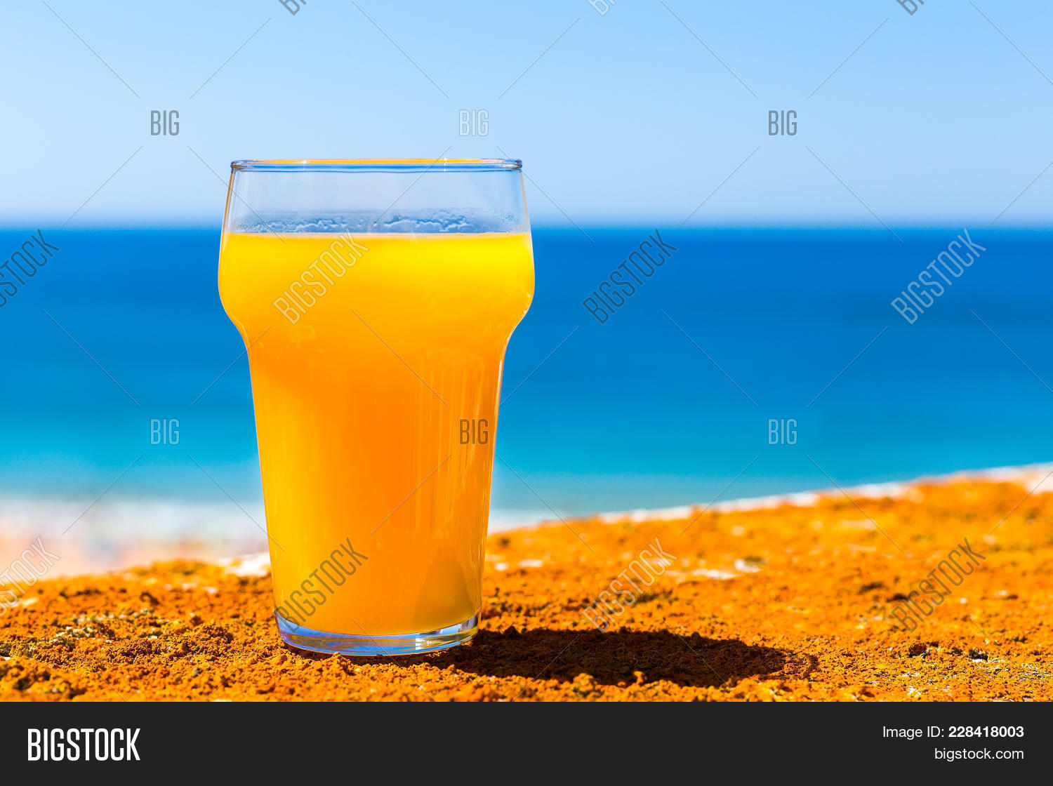 Glass Filled Orange Image & Photo (Free Trial) | Bigstock
