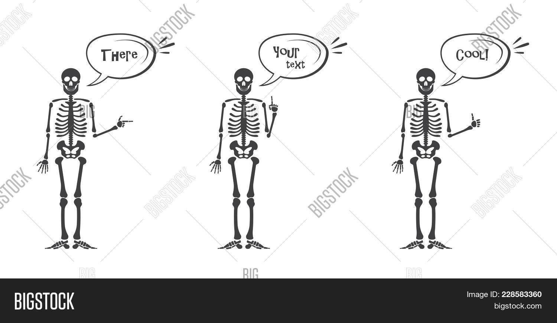 Skeleton Hand Gestures Image Photo Free Trial Bigstock