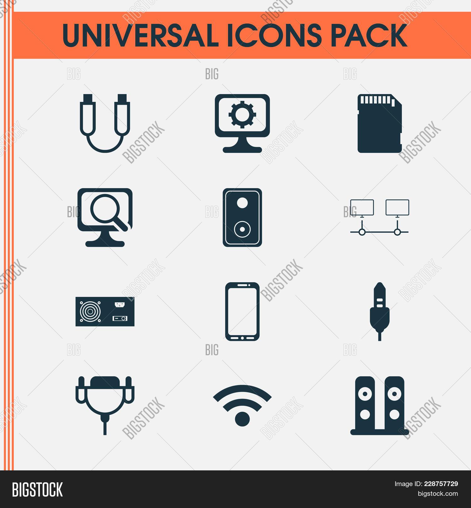 Hardware Icons Set Image Photo Free Trial Bigstock
