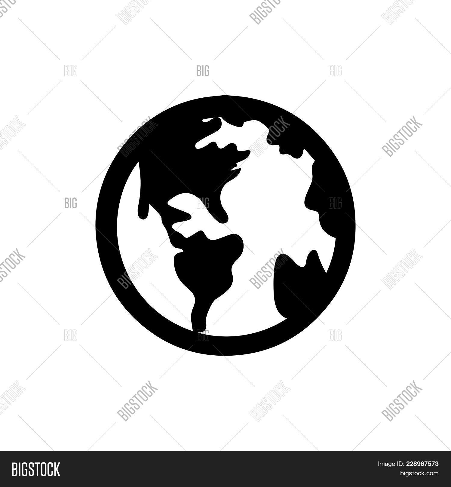 World icon isolated on white vector photo bigstock world icon isolated on white background world icon modern symbol for graphic and web design publicscrutiny Choice Image