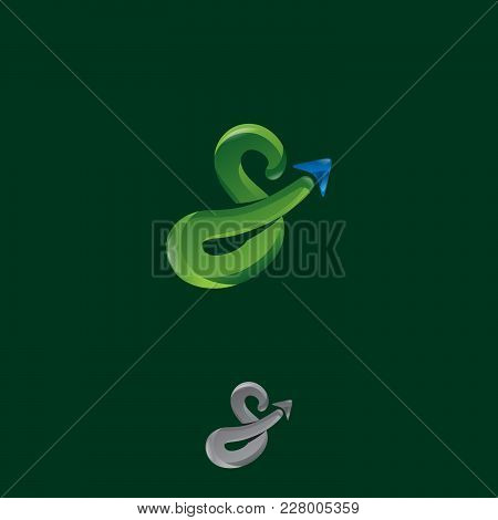 S Letter Gps Logo. Gps Vector. Gps Icon. Navigation Vector Logo. Navigation Vector Icon. Travel Logo