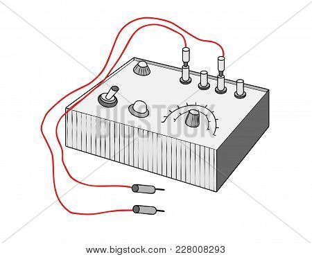 Vintage Multi Tester, Multi Tester Vector Illustration