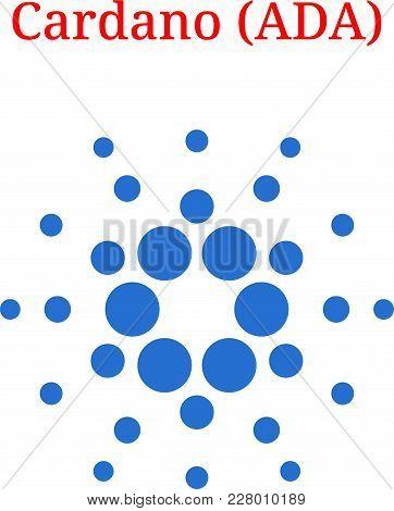 Vector Cardano (ada) Digital Cryptocurrency Logo. Cardano (ada) Icon. Vector Illustration Isolated O