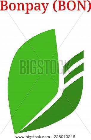 Vector Bonpay (bon) Digital Cryptocurrency Logo. Bonpay (bon) Icon. Vector Illustration Isolated On