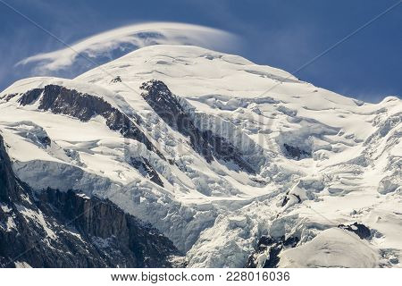 A Majestic View Of The Mont Blanc Summit. Alps.