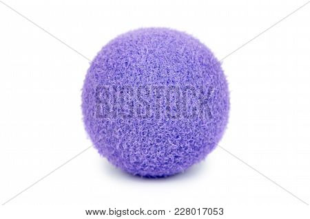 Foam Rubber Antistress Ball, Squishy Relax And Strength Power Trainer. Isolated On White Background.