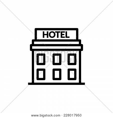 Hotel Building Cord Icon Isolated On White Background. Hotel Building Cord Icon Modern Symbol For Gr
