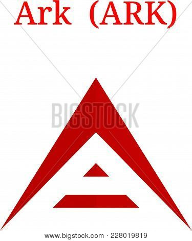 Vector Ark (ark) Digital Cryptocurrency Logo. Ark (ark) Icon. Vector Illustration Isolated On White