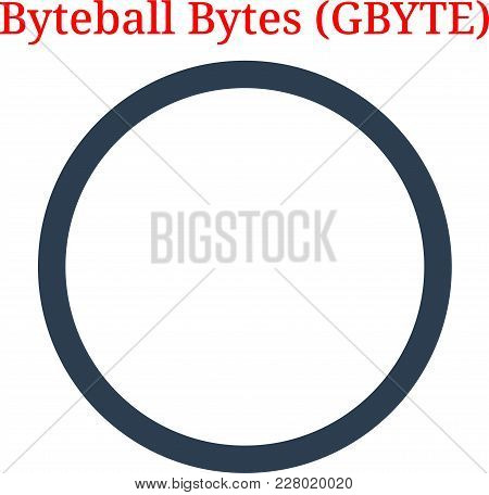 Vector Byteball Bytes (GBYTE) digital cryptocurrency logo. Byteball Bytes (GBYTE) icon. Vector illustration isolated on white background. poster