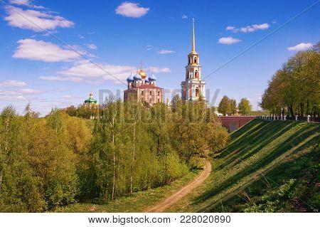 View Of Ryazan Kremlin From Embankment Of Trubezh River.  Ryazan City, Russia