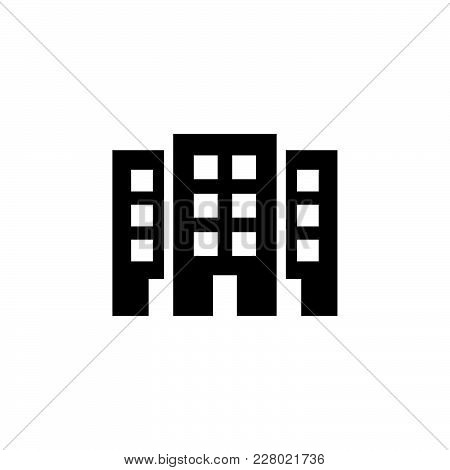 Building Icon Isolated On White Background. Building Icon Modern Symbol For Graphic And Web Design.