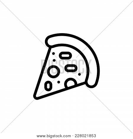 Pizza Icon Isolated On White Background. Pizza Icon Modern Symbol For Graphic And Web Design. Pizza