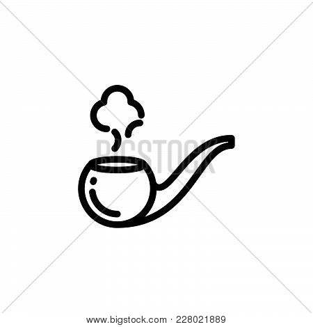 Smoking Pipe Icon Isolated On White Background. Smoking Pipe Icon Modern Symbol For Graphic And Web