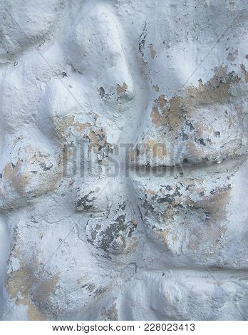 White Cement Texture Stone Concrete, Rock Plastered Stucco Wall Painted Flat Fade Pastel Background