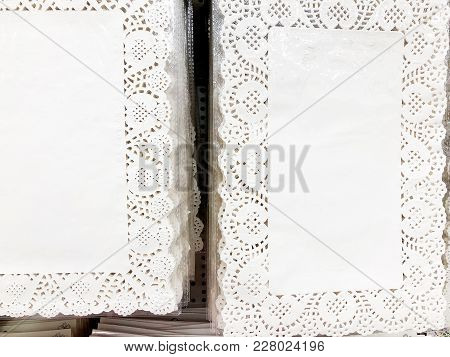 Oilcloth Stand On A Table To Decorate The Table. White Table Stand Is Sold In The Store