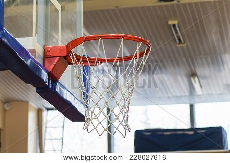 The Basketball A Hoop In The Gym