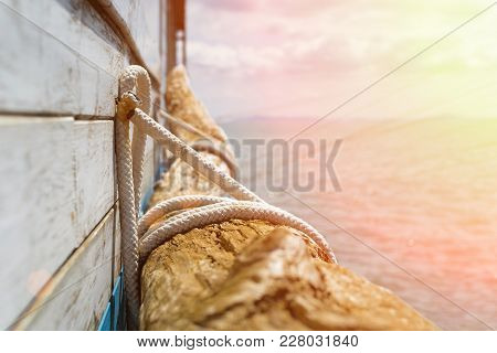 Wooden Piece Decoration Next To A Pier During Sunset With Warm Colors - Holidays Vacations And Summe