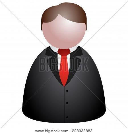 Isolated Abstract Businessman Icon. Vector Illustration Design
