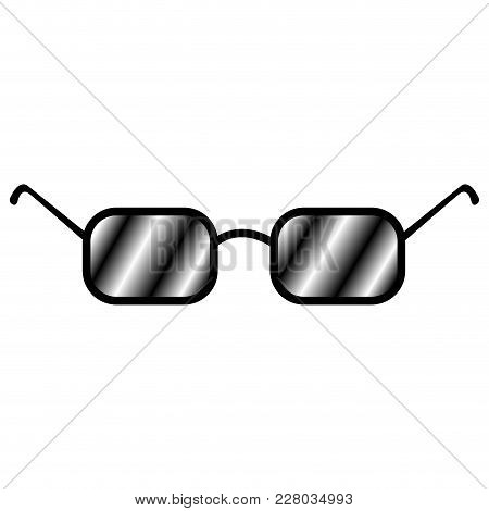 Isolated Sunglasses Icon Image. Vector Illustration Design