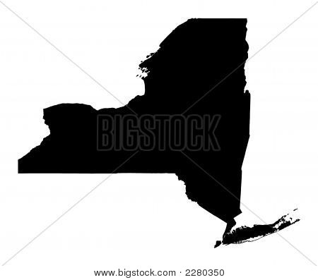 Map Of New York, Usa