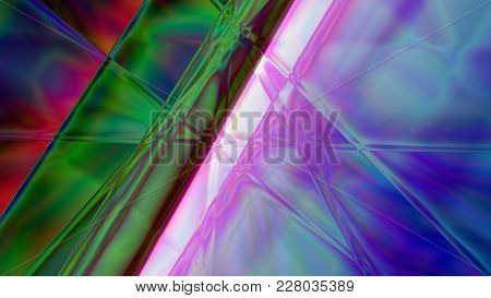 Colorful 3d Illustration Abstract Prism Background Based On Lines In 4k Resolution.