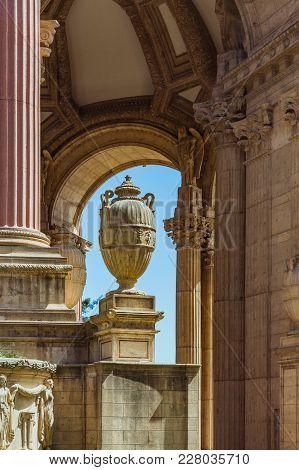 San Francisco, Usa - April 2017: Amphora Close-up At Exploratorium On The Palace Of Fine Art In San