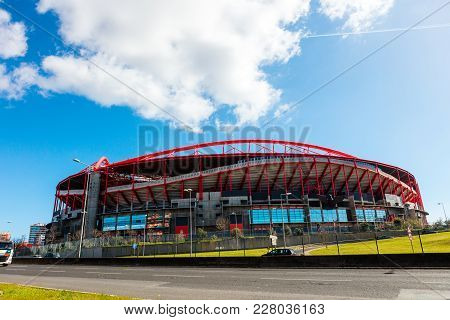 Lisbon , Portugal - February 10: Sport Lisboa E Benfica, A Premier League Portuguese Sports Club Bas