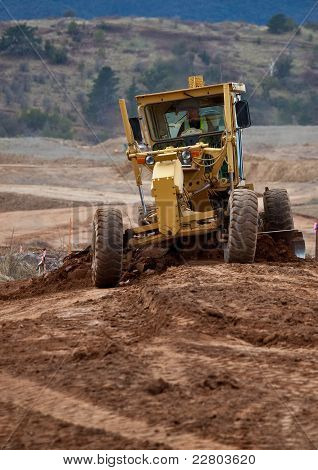 Earth moving equipment  at work