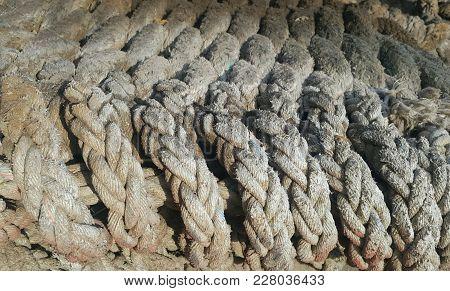 Old Twist Rope Used In Fishery, Chimbote Peru